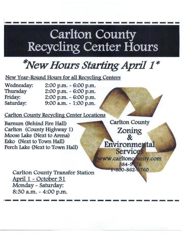 CC Recycling Center Hours